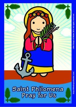 Saint Philomena Poster - Catholic