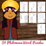 Saint Philomena Word Puzzles - No Prep Catholic Activities