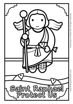 Saint Raphael Coloring - Catholic