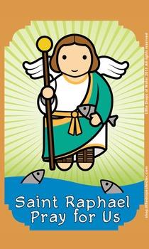 Saint Raphael Flash Card