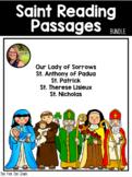 Saint Reading Passage & Reflection BUNDLE!