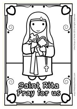 Saint Rita Coloring - Catholic