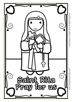 Saint Rita Coloring - Catholic