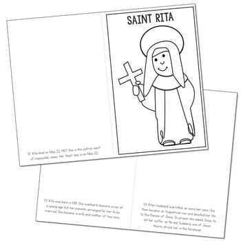 Saint Rita l Mini Book in 3 Formats, Catholic Resource