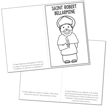 Saint Robert Bellarmine l Mini Book in 3 Formats, Catholic Resource