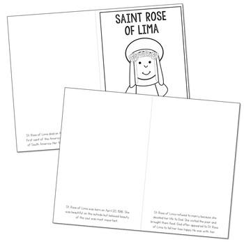 Saint Rose of Lima Biography Mini Book in 3 Formats, Catholic Resource