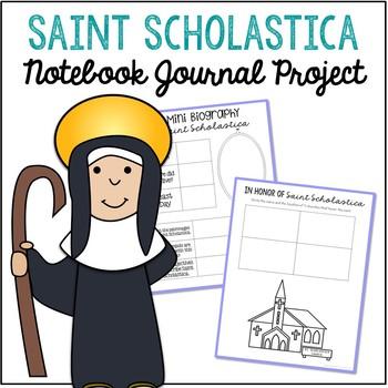 Saint Scholastica Notebook Journal Project, Catholic Resources