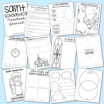 Saint Scholastica Notebook Journal Project, Catholic Schools