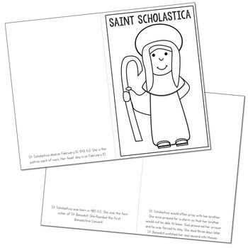 Saint Scholastica l Mini Book in 3 Formats, Catholic Resource