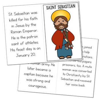 Saint Sebastian l Mini Book in 3 Formats, Catholic Resource