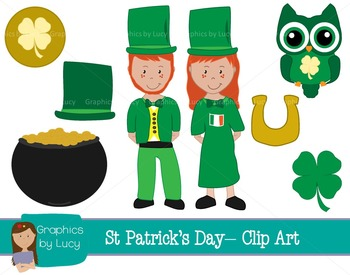 Saint Patrick's Day Clip Art Set! 16 PNG Images {Personal & Commercial Use}