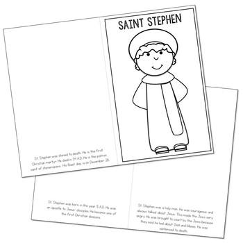 Saint Stephen Biography Mini Book in 3 Formats, Catholic Resource