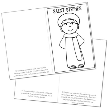 Saint Stephen l Mini Book in 3 Formats, Catholic Resource