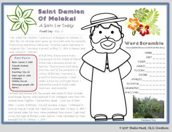 Saint Study - Fr. Damien of Molokai