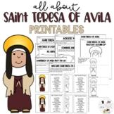 Saint Teresa of Avila - Feast Day October 13 - Catholic Saints
