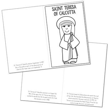 FREE! Saint Teresa of Calcutta Biography Mini Book in 3 Formats, Catholic