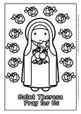 Saint Theresa Coloring - Catholic