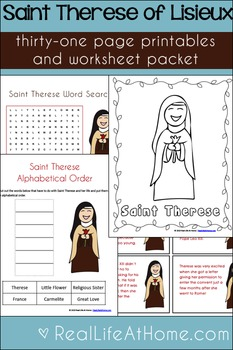 Saint Therese Printables Activity Packet