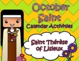 October Catholic Saint Calendar Activities - Saint Therese