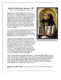 Saint Thomas Aquinas Saint of the Day Worksheet