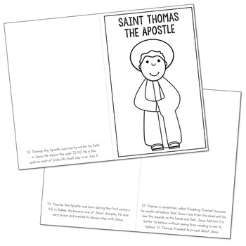 Saint Thomas the Apostle  l Mini Book in 3 Formats, Catholic Resource