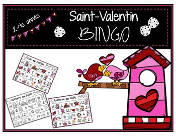 Saint-Valentin - 2 jeux de BINGO / maths 2-4e Valentine BINGO