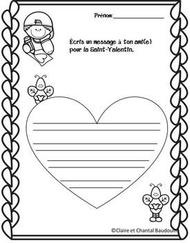 Saint-Valentin Activités de littératie