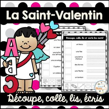 Saint-Valentin - French Valentine's Day - Découpe et colle