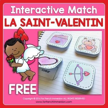 Saint-Valentin French Valentine's Day Matching FREE
