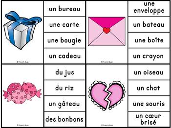 Saint-Valentin - Jeu d'association #1 - French Valentine's Day Clip Cards