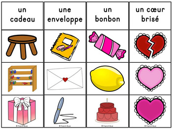 Saint-Valentin - Jeu d'association #2 - French Valentine's Day Clip Cards