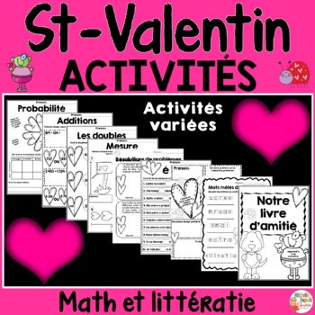 Saint-Valentin Math et Littératie - Français - French Valentine's Day