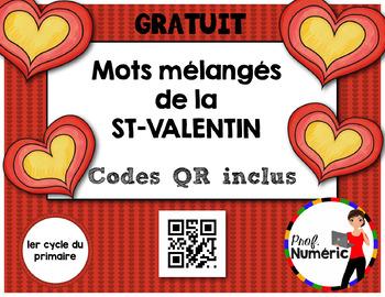 Saint-Valentin Mots mélangés avec CODES QR - GRATUIT