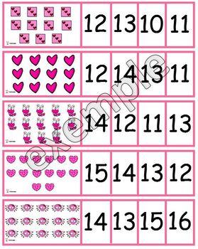 Saint-Valentin: cartes à compter