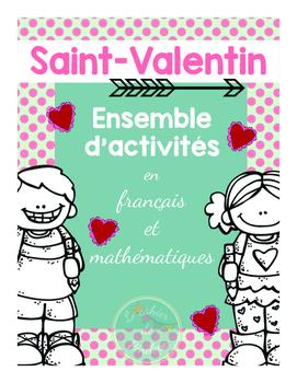 Saint-Valentin : ensemble d'activités de français et mathé