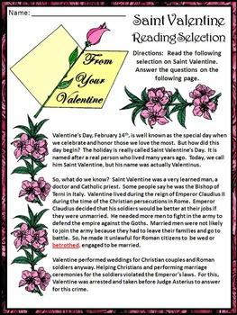 Valentine's Day Activities: The Legend of Saint Valentine Bundle - Color&BW