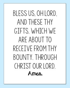 Set of 7 Prayer Posters, Memory Verse, Sunday School, Catholic Lessons