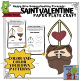 Saint Valentine Paper Plate Craft for Valentine's Day or S
