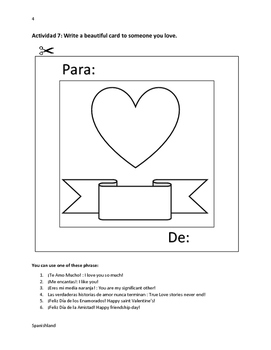 Saint Valentine's Day (San Valentin in Spanish)