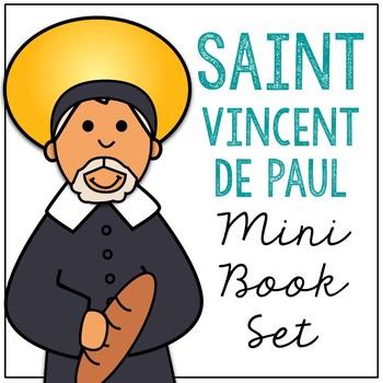 Saint Vincent De Paul Biography Mini Book in 3 Formats, Catholic Resource