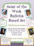 "Catholic ""Saint of the Week"" Bulletin Board Set"