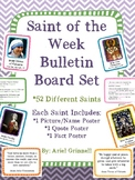 "Catholic ""Saint of the Week"" Bulletin Board Set"