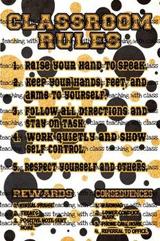 Classroom Theme Saints Classroom Rules
