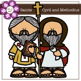 Saints Cyril and Methodius digital Clipart (color and blac