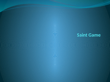 Saints Game Powerpoint