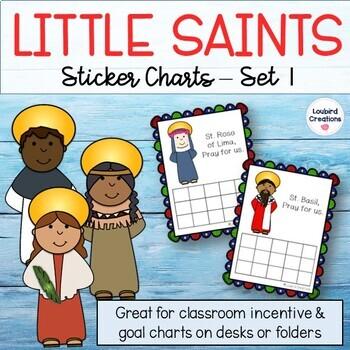 Saints Incentive Sticker Charts