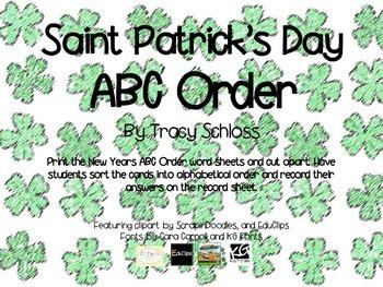 Saints Patrick's Day ABC Order,