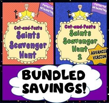 Catholic Saints Scavenger Hunt: 2-Pack Bundle