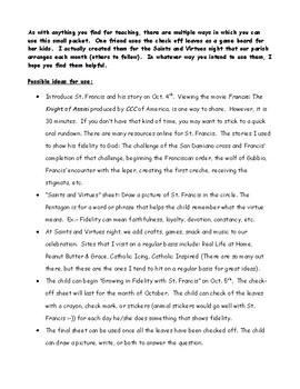 Saints & Virtues: St. Francis & Fidelity