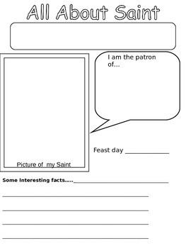 Saint's Writing paper